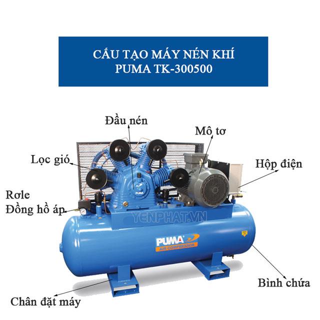 Cấu tạo máy nén khí Puma TK-300500